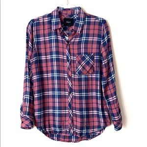 Rails Hunter button down shirt w/ metallic thread